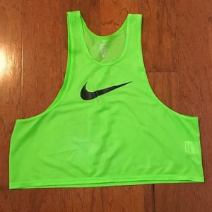 Neon Green Nike Tank Pinnie